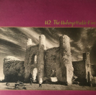 U2 ‎- The Unforgettable Fire (LP) (G-VG/EX-)